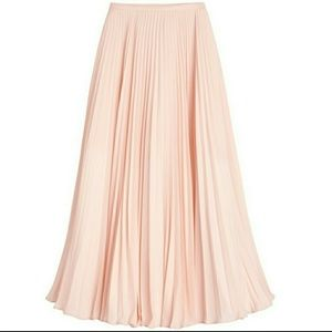 White House Black Market AW Knife Pleat Maxi Skirt